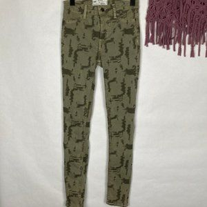 Free People High Waist Tree Bark Skinny Jeans 26